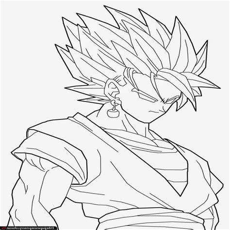 imagenes para colorear de dragon ball z dibujos de goku de dragon ball z para imprimir y colorea