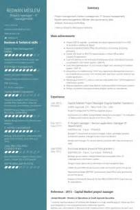 Capital Project Manager Sle Resume by Chef De Projet Exemple De Cv Base De Donn 233 Es Des Cv De Visualcv