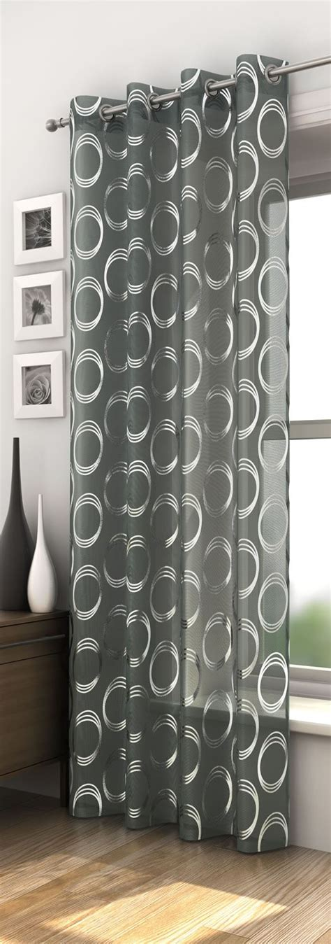 curtains black and white pattern gopelling net white curtains with silver circles curtain menzilperde net