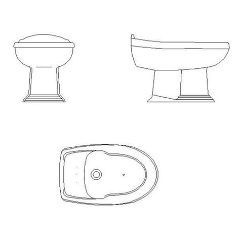 bidet cad block cadblocksfree cad blocks free - Bidet Cad Block