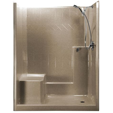 Left Drain Shower Kit by Ella 60 In X 33 In X 77 In 1 Low Threshold Shower