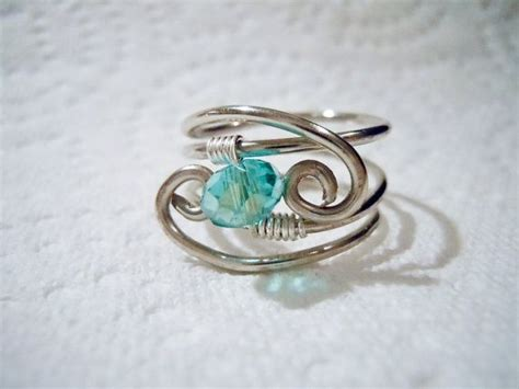 Handmade Wire Wrapped Rings - wire wrapped ring handmade jewelry jewelry inspirations