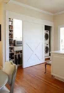 barn door style laundry pantry doors architecture