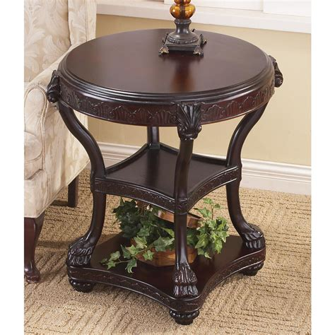 castlecreek gun concealment end table 3 tier carved accent table 145233 living room at