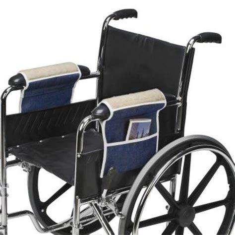 Wheel Chair Accessories by Fleece Wheelchair Armrest Pouches Convenient Storage And