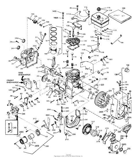 tecumseh parts diagram tecumseh hs50 67175b parts diagram for engine parts list 1