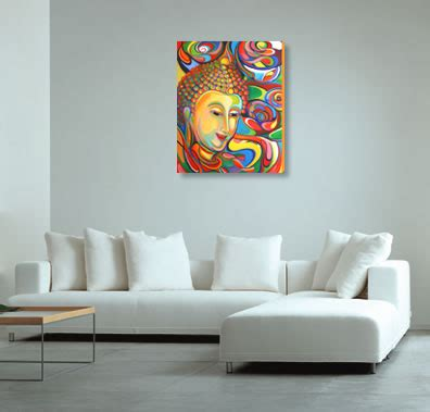 buddha paintings for living room buddha painting large giclee print on canvas ebay