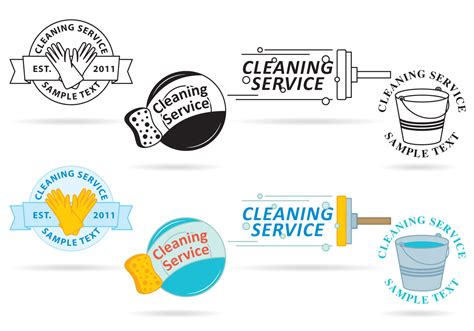 design service icon vector cleaning service logo vectors download free vector art