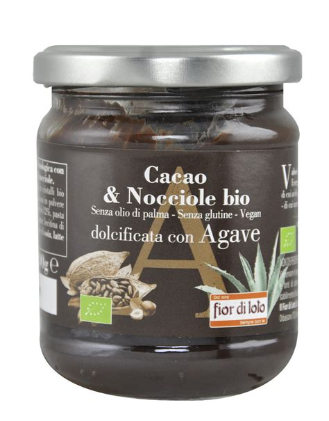fior di cacao organic cocoa and hazelnuts with agave by fior di loto