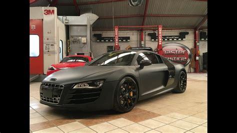 Audi R8 Black Matte by Audi R8 Black Matte Custom Wrapping