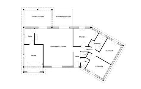 Plan De Maison 3 Chambres 3516 by Plan De Maison 3 Chambres Plan Maison De Plain Pied 100 M