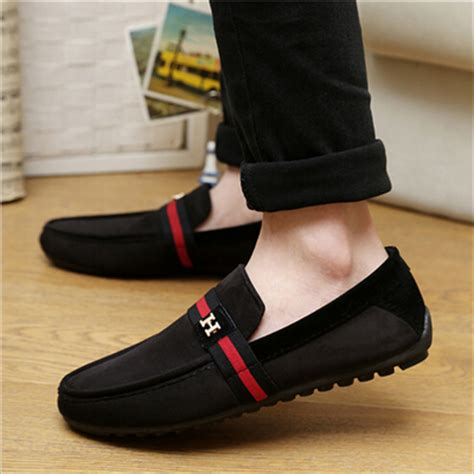 Sandal Pria Casual Flat Santai Wakai Black the new 2016 driving shoes for loafer new fashion design casual flat shoes slip