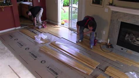 iFLOOR Nail Down Bamboo Installation   YouTube