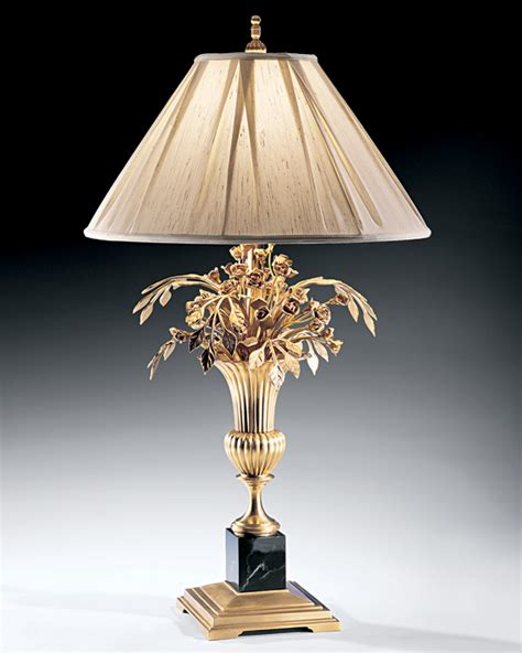 Unusual Table Lamps by Unique Table Lamp And Vase And Flowers Brass Table Lamp