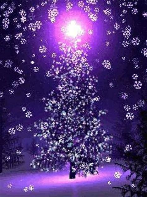 purple christmas tree christmas pinterest