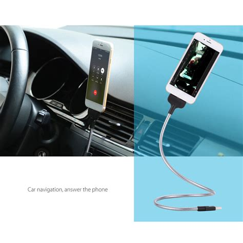 Android Metal Cable Charger Lazy Bracket 2 in 1 2ft 0 6m micro usb charger cable with holder dock stand for android phone