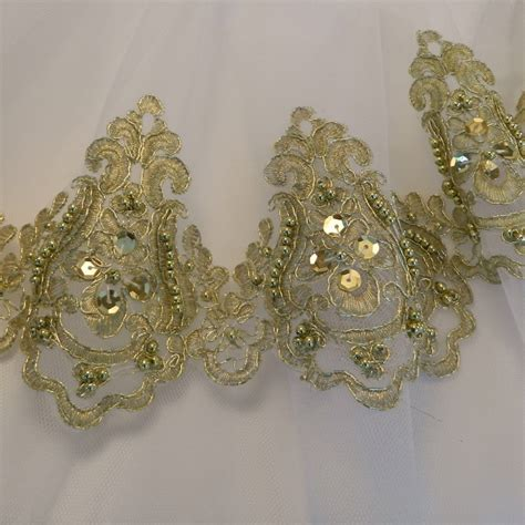 gold beaded fringe trim gold beaded trim 1217 valorose tutus and textiles