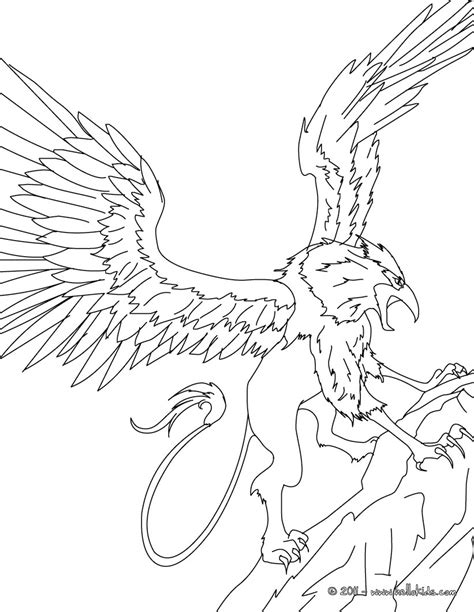 Griffin The Majestic And Powerful Creature Coloring Pages Griffin Coloring Pages