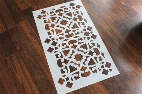 wall stencil templates free bathroom makeover stenciled walls plus a giveaway