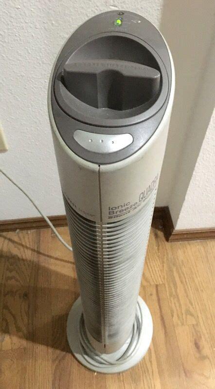 sharper image  ionic breeze quadra  watt silent air purifier appliances  redmond