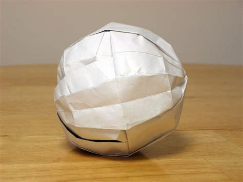 How To Make An Origami Sphere - zing origami polyhedra