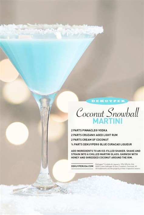 Check Out Coconut Snowball Martini It S So Easy To Make