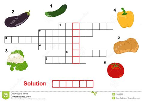 printable crossword puzzles vegetables vegetable puzzle crossword stock vector image 24062360