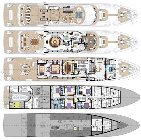 luxury yacht floor plans mega yacht floor plans memes