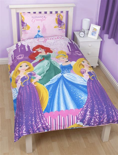 disney princess bedroom set disney princess sparkle single duvet cover pillow case