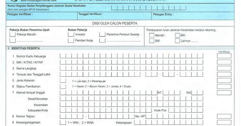 format daftar isian peserta bpjs agatha permana formulir daftar isian peserta pekerja