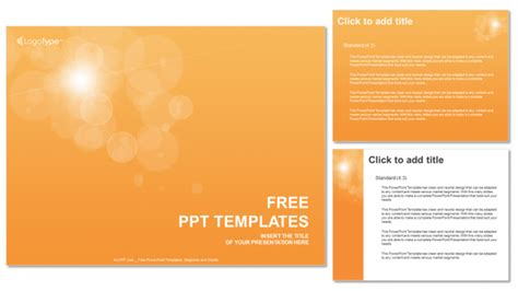 powerpoint templates free orange orange bubbles abstract ppt templates