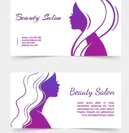 Beauty Layout Vector | beauty salon card design free vector download 19 438 free