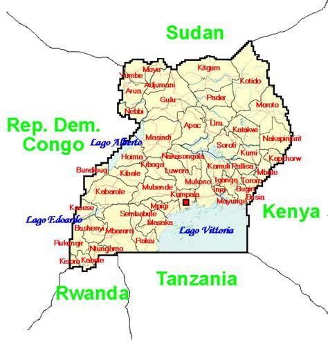 Uganda Calendario 2018 Carta Uganda Usabile Volontariato E Solidariet 224