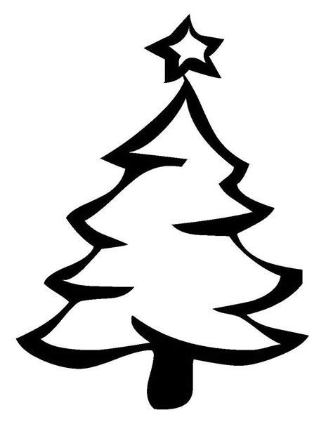 ausmalbild weihnachten weihnachtsbaum mit sternspitze