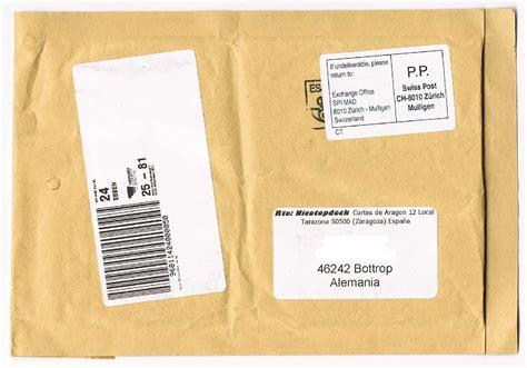 Brief Schweiz Nach Spanien Philaseiten De Moderne Privatpost Deutschland Weiterleitungen Aus Dem Ausland