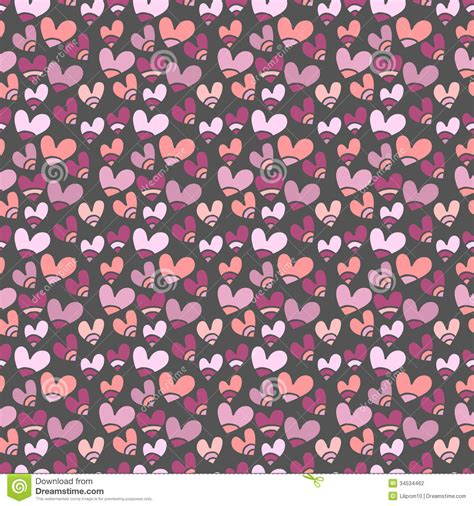 seamless pattern  small hearts stock vector