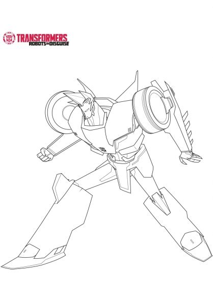 Coloring Pages Transformers Robots In Disguise | sideswipe transformers robots in disguise coloring page