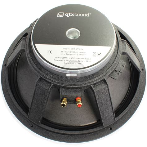 Speaker Canon 18 Inch qtx sound 900w 18 inch low frequency speaker driver ebay
