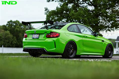 green bmw ind delivers a green bmw m2 coupe