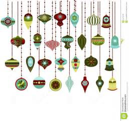 retro christmas ornaments vector clipart stock vector image 54714741