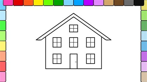 how to color a house learn to color for kids and color big house coloring pages