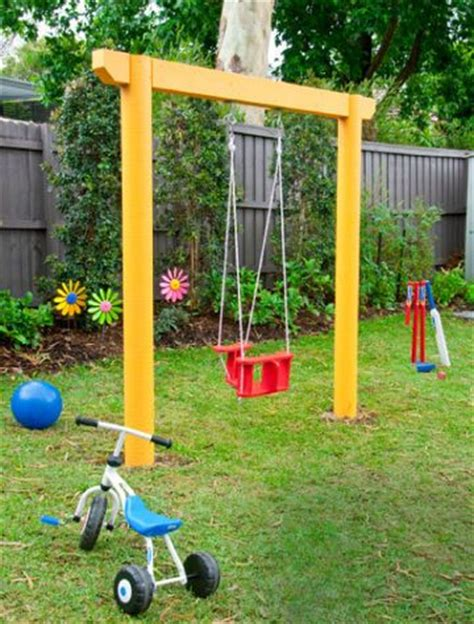 backyard swing set plans 10 free swing set plans better homes and garden s single