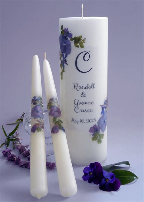 Wedding Blessing Unity Candle Set by Floral Swarovski Wedding Unity Candles 8 Designs