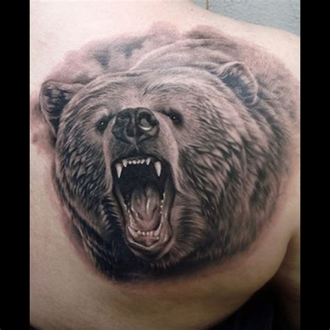 bear face tattoo meanings itattoodesigns