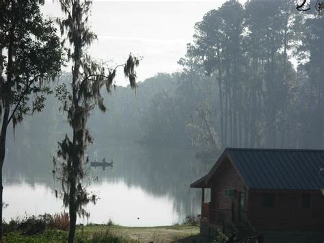 florida log cabin lakefront adults only come to fish or