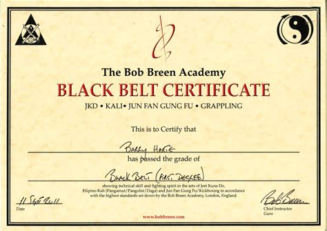 karate black belt certificate templates taekwondo black belt certificate template pictures to pin