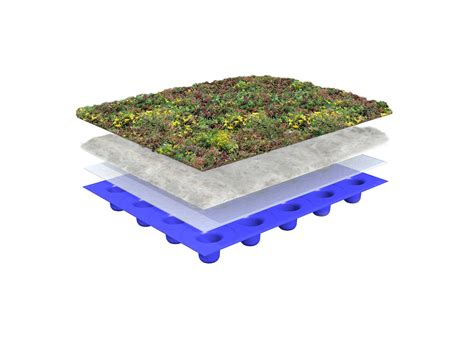 lightweight green roof on flat roof system structure sempergreen