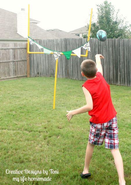 my life homemade diy backyard football practice goal post