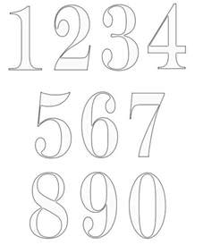 number templates 1 20 top 25 best number fonts ideas on number