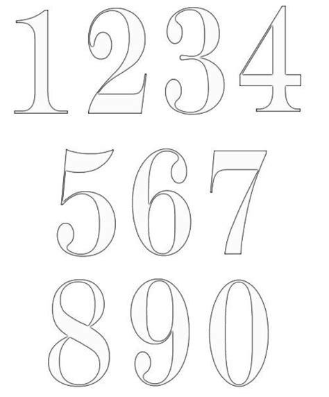 numbers templates top 25 best number fonts ideas on number